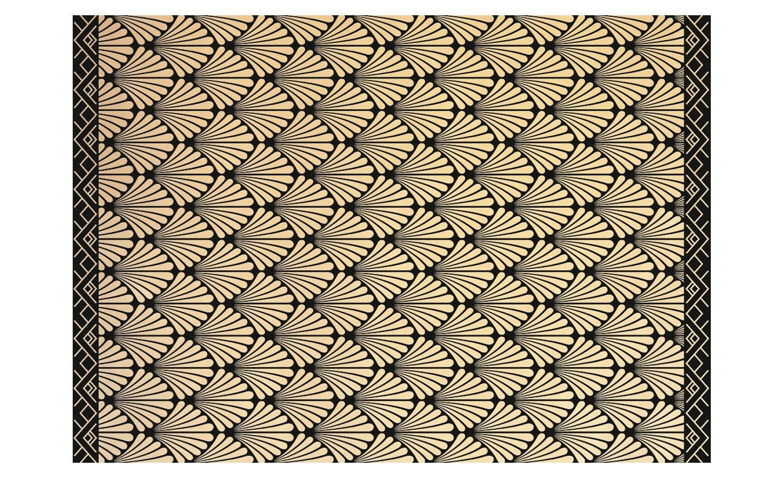 tapis vinyle charlestone motif retro