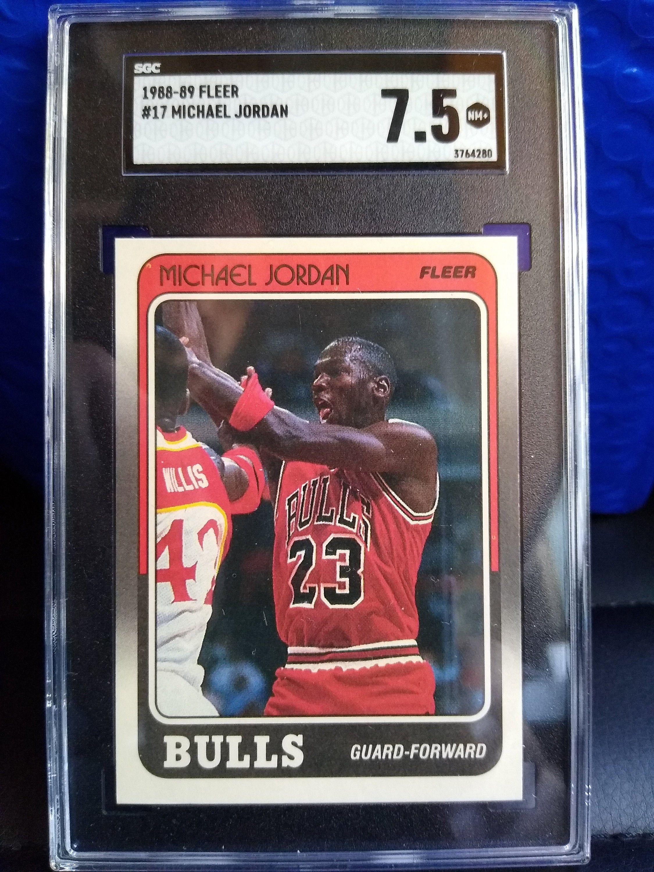 1988 fleer basketball michael jordan chicago bulls last