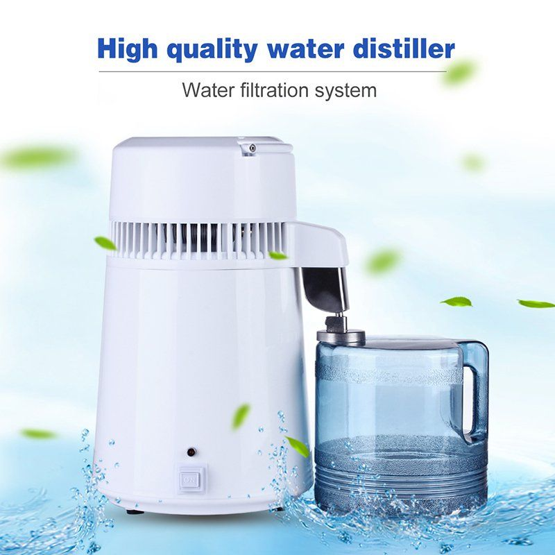 4l portable home pure water filter purifier distiller