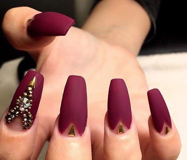 Fall coffin nails ~ | Nails | Pinterest | Coffin nails, Nail nail ...