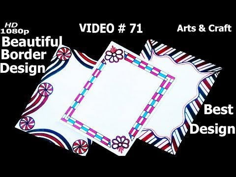 Beautiful Project Design Video71 Arts Craft Youtube Page