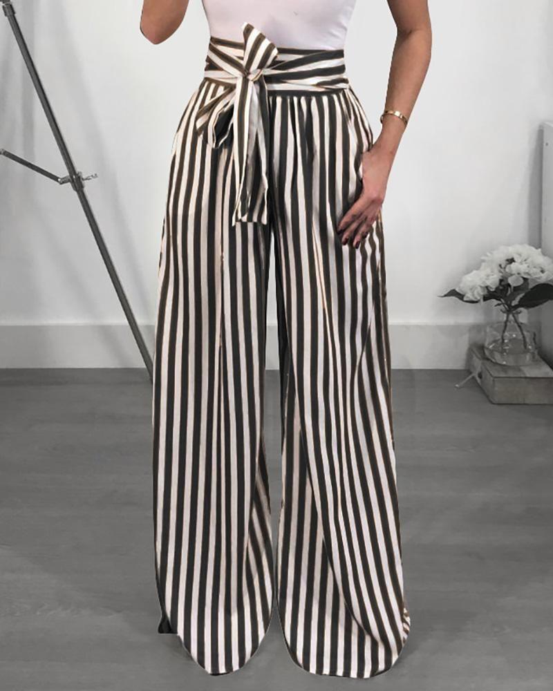 Amazing Stripes High Waist Flared Pants Coupontron Flowy Pants Flare Pants Flowy Pants Outfit [ 1000 x 800 Pixel ]
