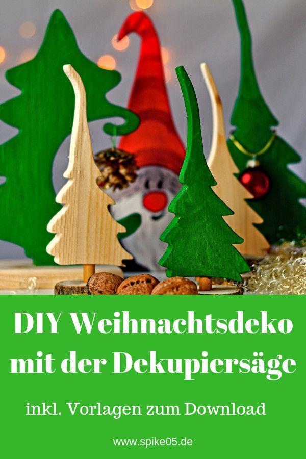 DIY – Weihnachtsdeko mit der Dekupiersäge aus Restholz basteln