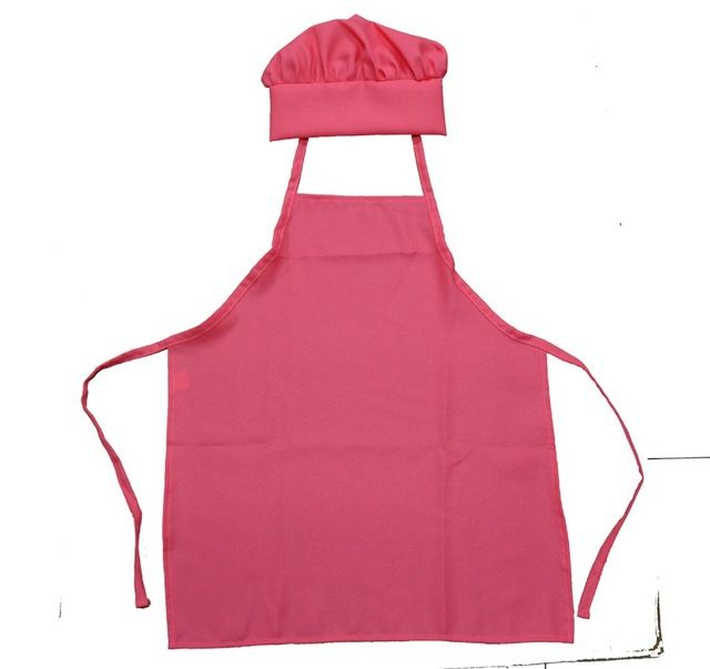 kitchen apron for kids cabinet hardware hinges set chef uniform food service hats cap cooking aprons children drawing