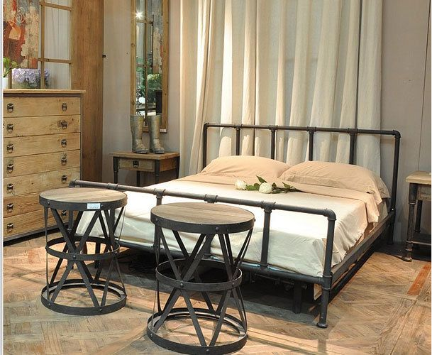 american country style wrought iron beds iron beds retro industrial pipe fittings wrought iron bed