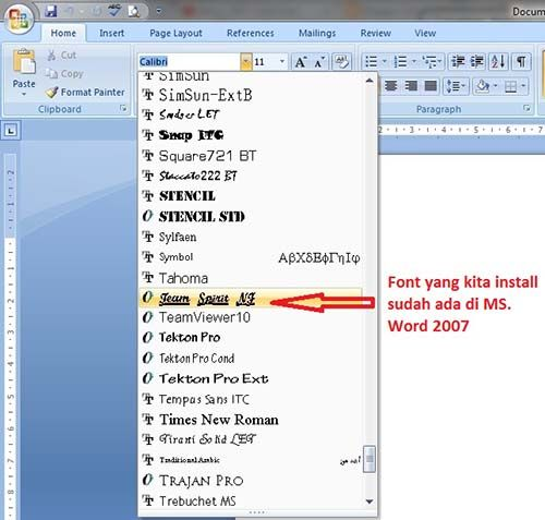 Tutorial MS Office 2007 Bagian 5  Menambah Jenis Font Tutorial - copy how to make a letter format on microsoft word 2007
