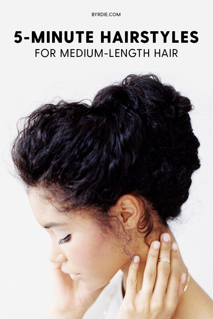 Minute hairstyles for mediumlength hair beauty pinterest