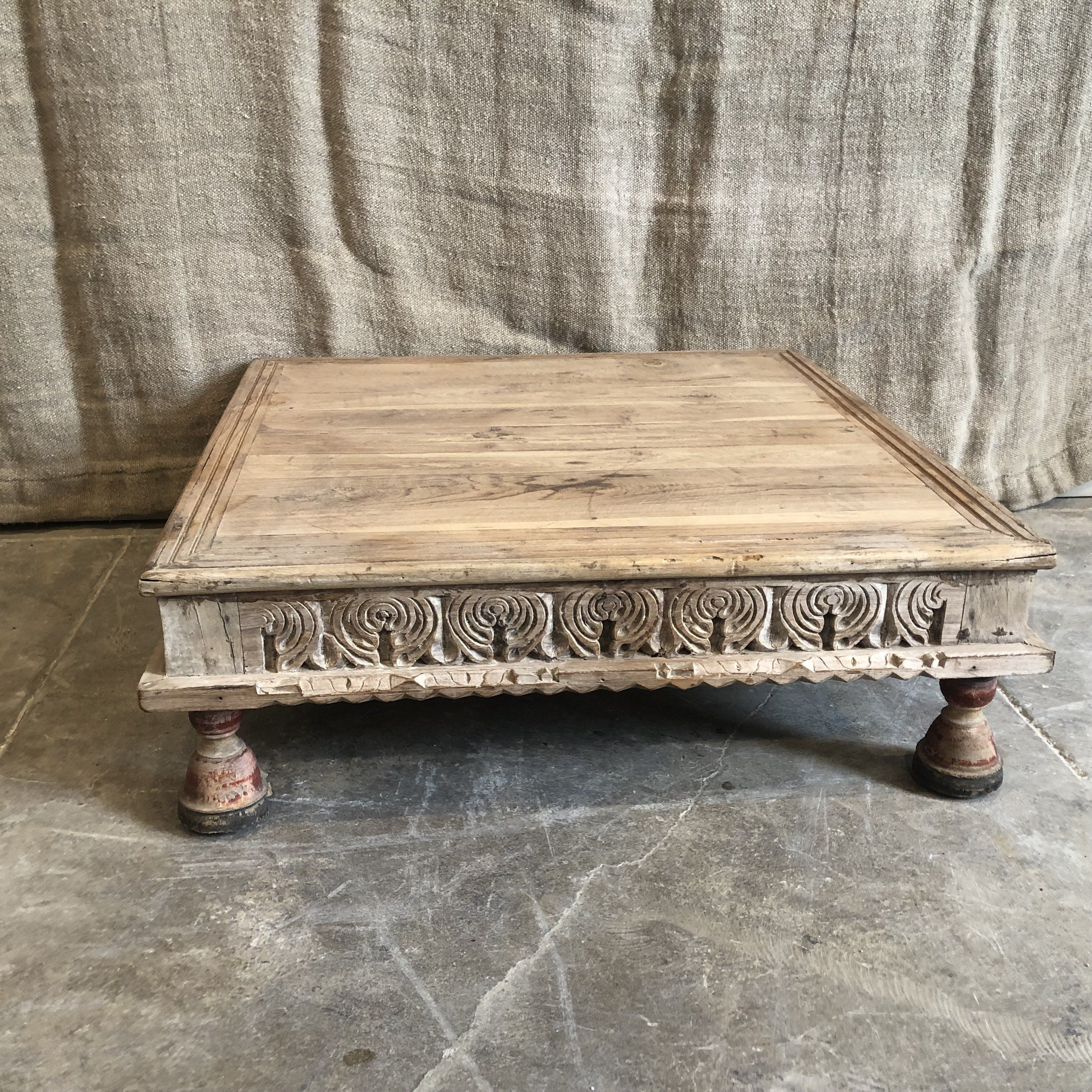 Vintage Carved Wood Bajot In 2021 Diy Furniture Accessories White Washed Furniture Coffee Table Makeover [ 3024 x 3024 Pixel ]