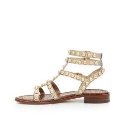 Eavan Studded Gladiator Sandal by Sam Edelman - Gold Leather