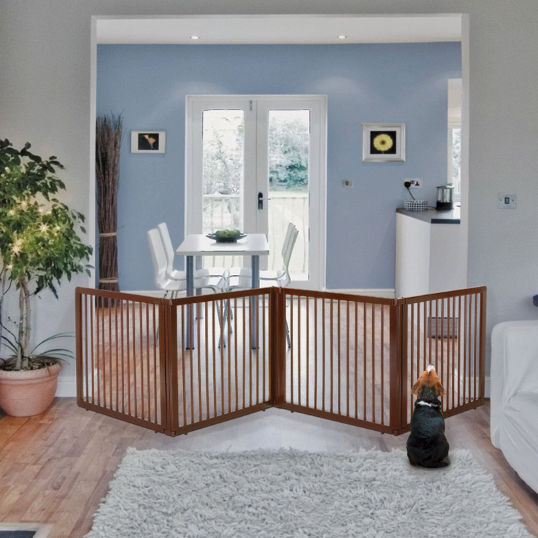 Richell Wooden Pet Room Divider - 94910 | Metal room ...