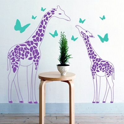 This Giraffe Family Wall Decals is sweet and cute. Children in general are fond of Giraffe Family Wall Decals. Removable without a trace.