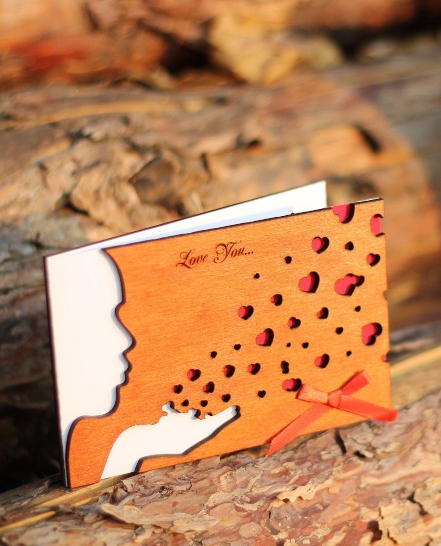 Love cards for him wood greeting card wood card 5 year love cards for him wood greeting card wood card 5 year anniversary for kristyandbryce Gallery