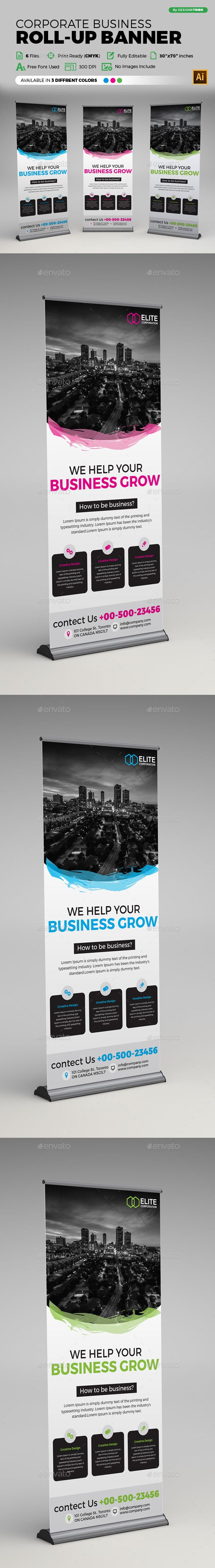 Corporate Business Roll-up Banner | Corporate business, Banners and ...