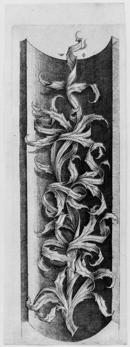 Foliate Ornament, ca. 1470 Master W with the Key (Netherlandish, active ca. 1465–90)