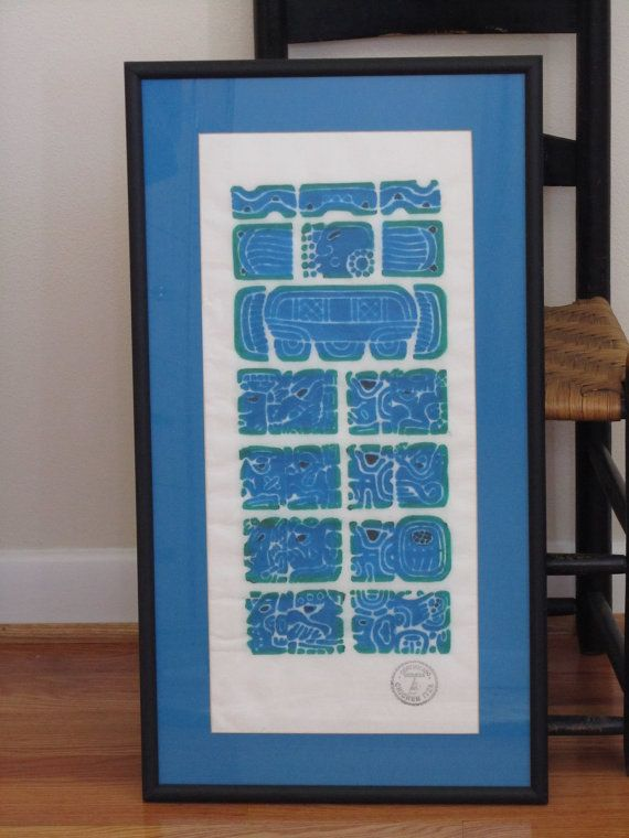 Mayan Temple Rubbing Month Glyphs Certified by SaleOfEstates, $89.00