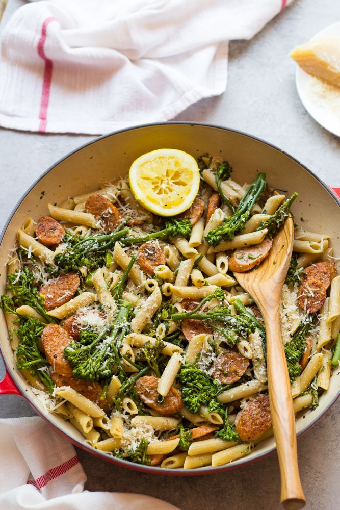 Chicken Sausage And Broccolini Pasta 7 Ingredients Recipe