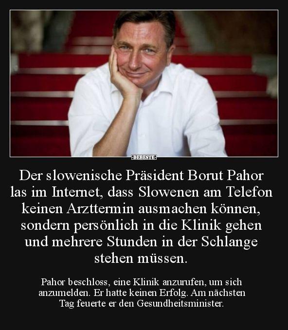 Der slowenische Präsident Borut Pahor las im Internet
