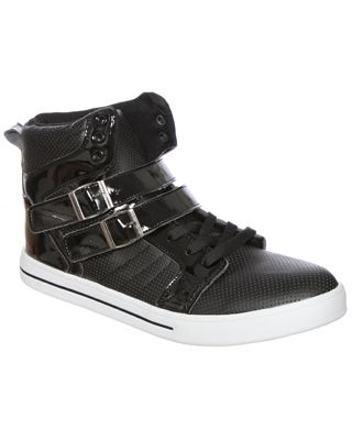 rue21 : BUCKLE PATENT HIGHTOP  Bust out the card board