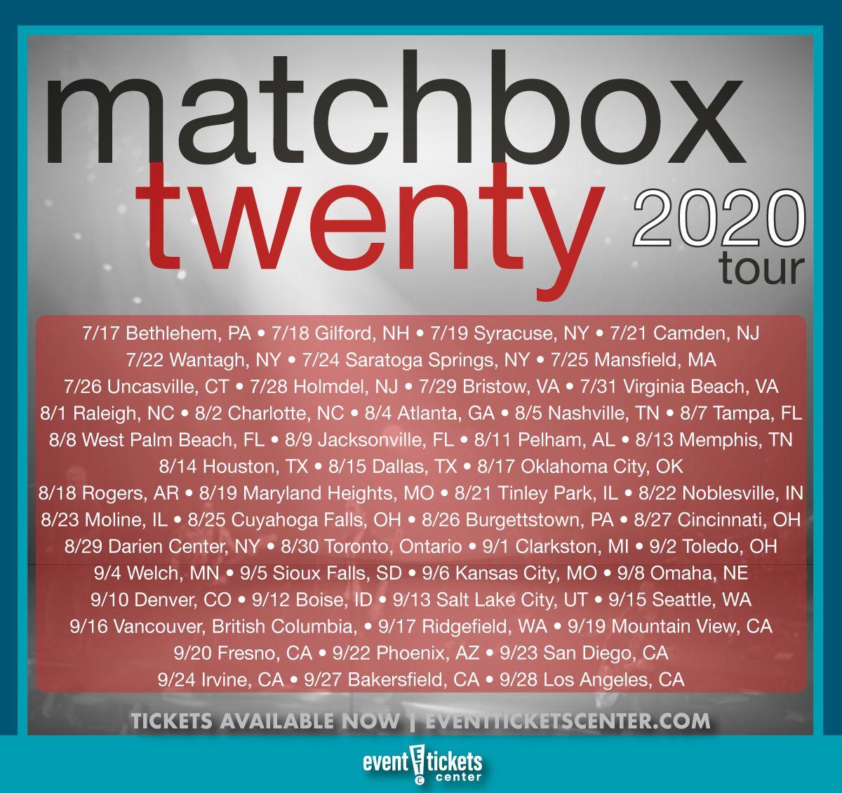 Matchbox Twenty 2020 Tour Dates & Tickets in 2020 (With