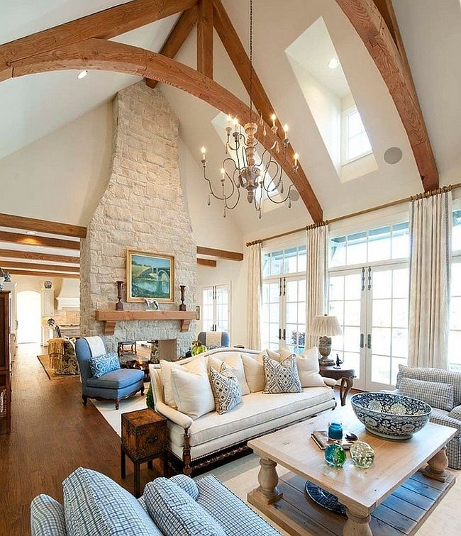 20 Cool Basement Ceiling Ideas: 20 Lavish Living Room Designs With Vaulted Ceilings