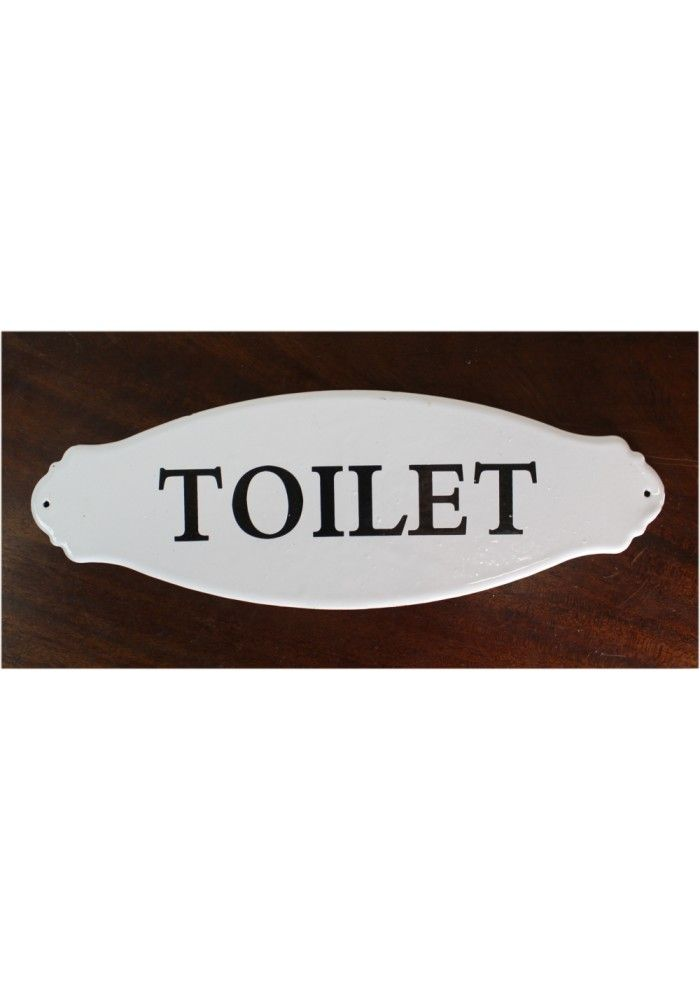 Porcelain or Metal TOILET Door Sign French Vintage Style for