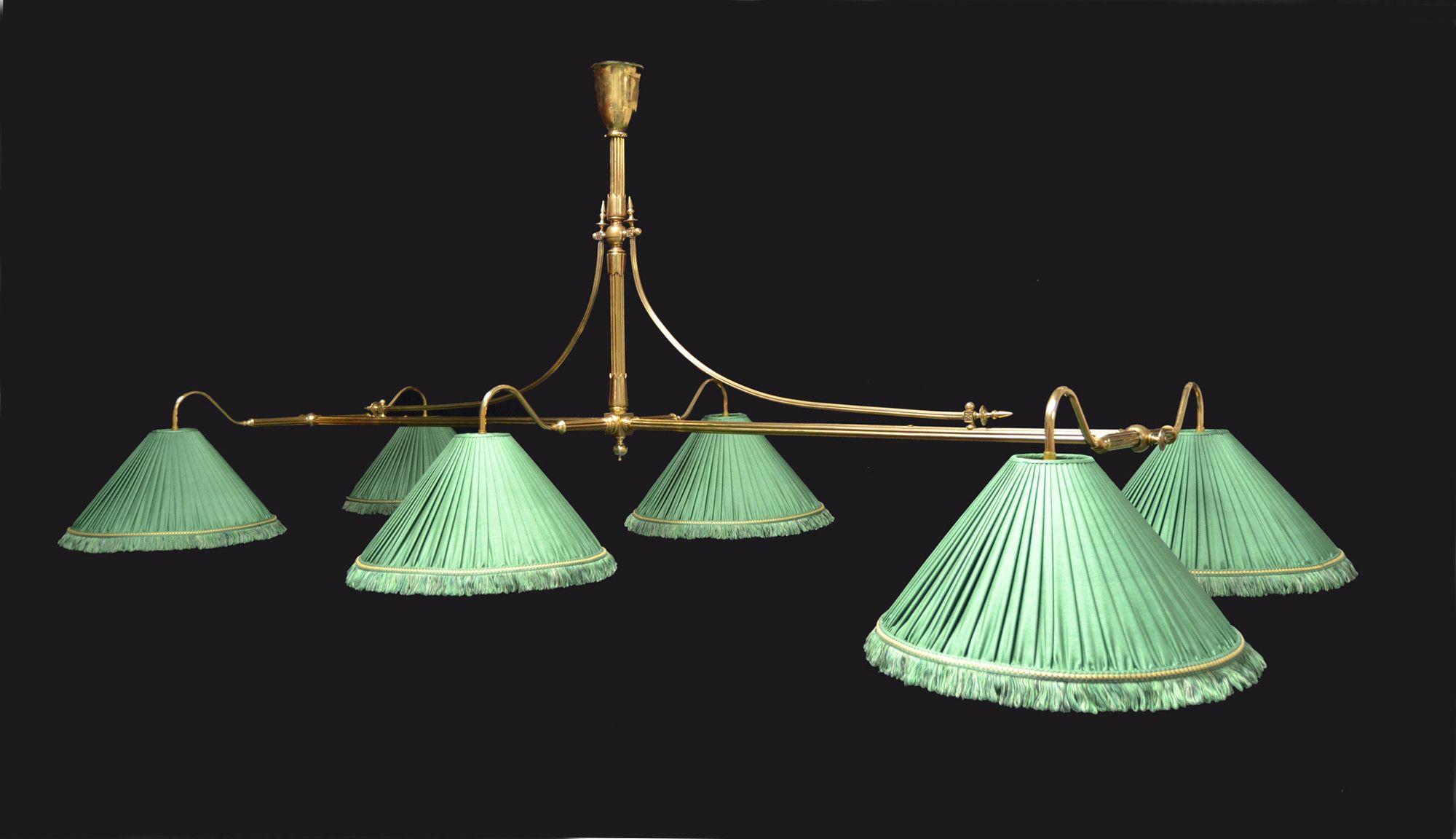A Brass Framed Antique Billiard   Snooker Table Light   Billiard Room Ltd