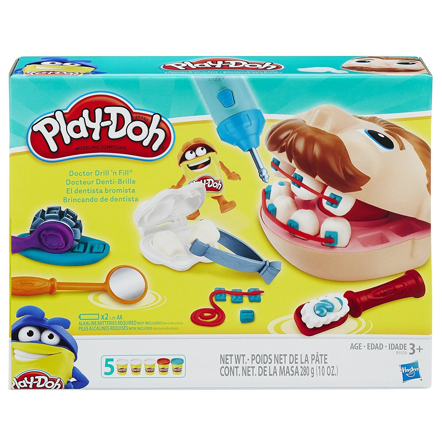 Amazon com: Play-Doh Doctor Drill 'n Fill Retro Pack: Toys