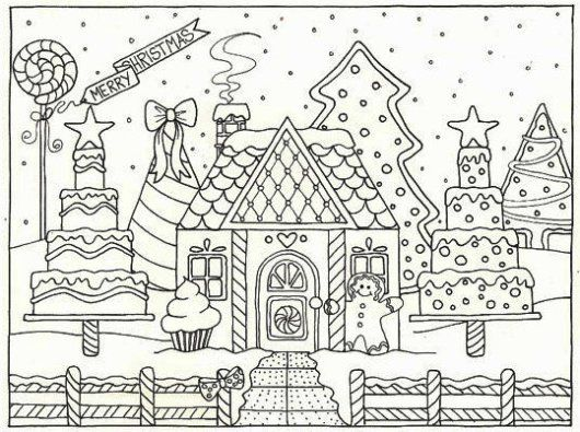 Image Result For Gingerbread House Coloring Pages House Colouring Pages Christmas Coloring Pages Coloring Pages