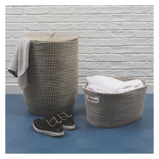 Morris Grey Woven Laundry Basket With Lid Woven Laundry Basket