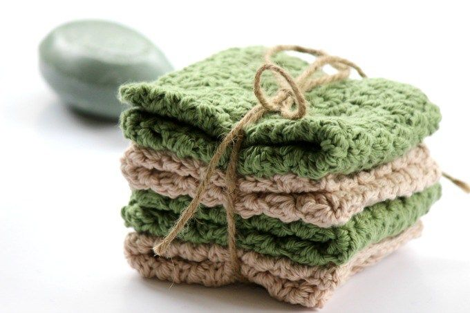 Easy Textured Cotton Wash Cloth - Free Crochet Pattern | Accesorios ...