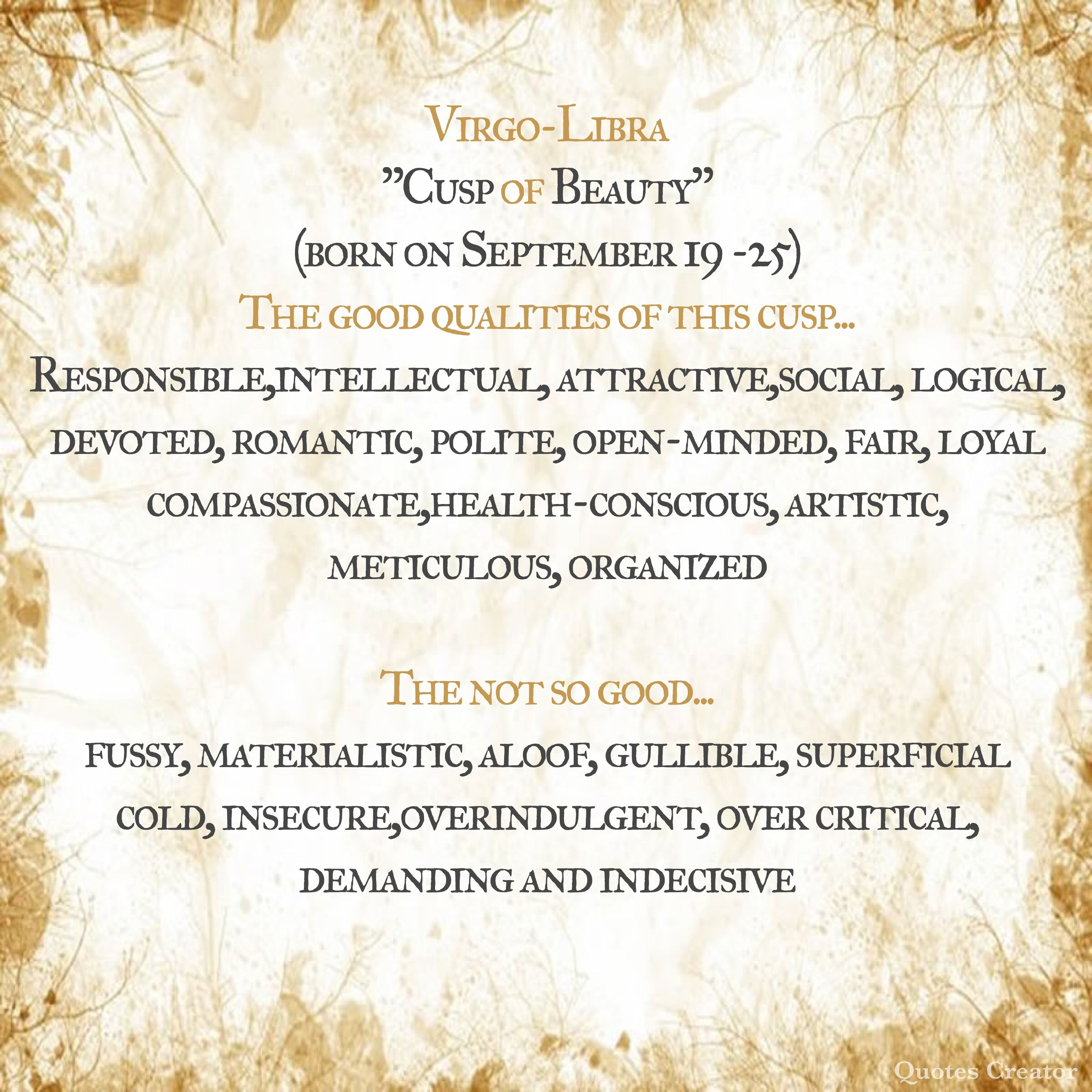 Libra compatibility virgo cusp love Virgo