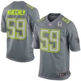 Men s Nike Carolina Panthers  59 Luke Kuechly Elite Grey 2014 Pro Bowl NFL  Jersey 862fd259d