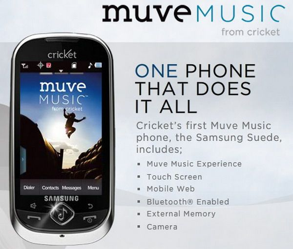 Cricket Debuts Muve Music Service At 2011 International Ces Muve Music Phone
