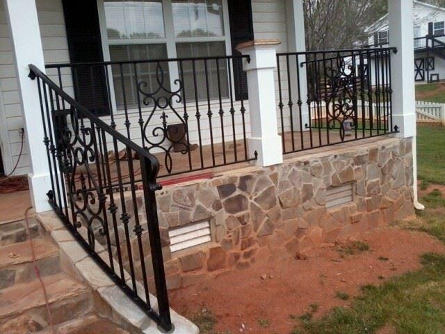 beautiful metal front porch railing porch handrail ideas ...