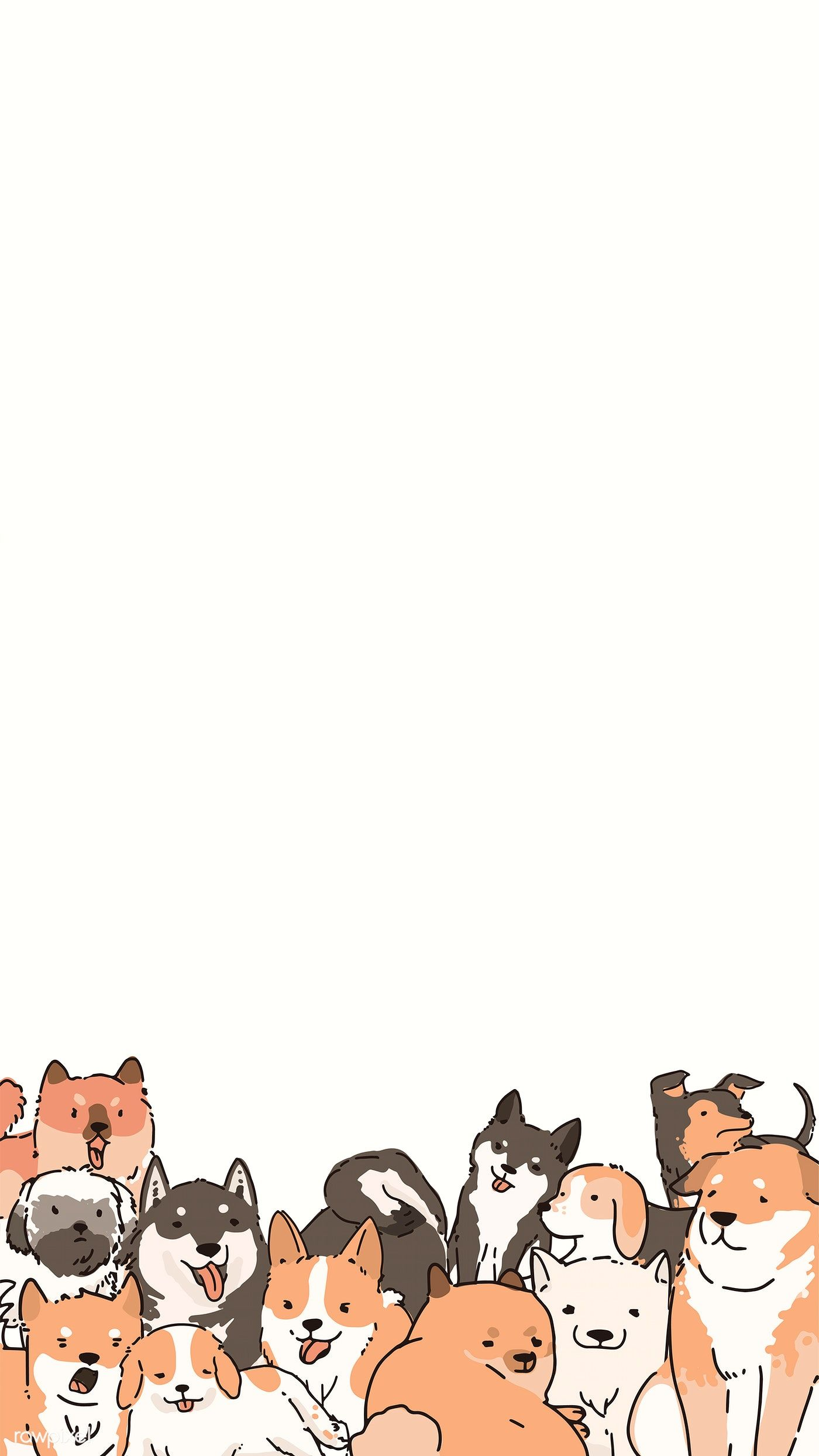 Dogs Doodle Pattern Background Vector Premium Image By Rawpixel Com Niwat Cute Dog Wallpaper Dog Wallpaper Iphone Dog Wallpaper