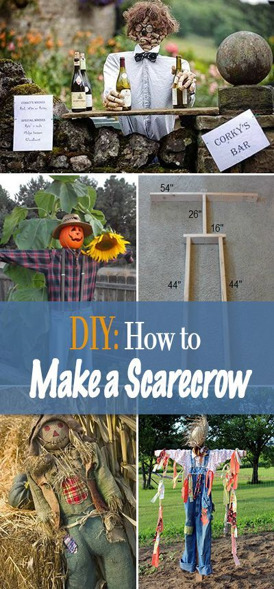 DIY Decor How to Make a Scarecrow Scarecrows and Scare crow - homemade halloween decoration ideas for yard