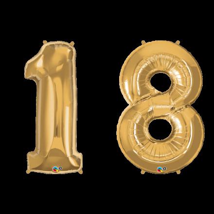 Zahlenballon Nummer 20 gold 86-100cm Luftballon Folienballon Geburtstag xxl Zahl