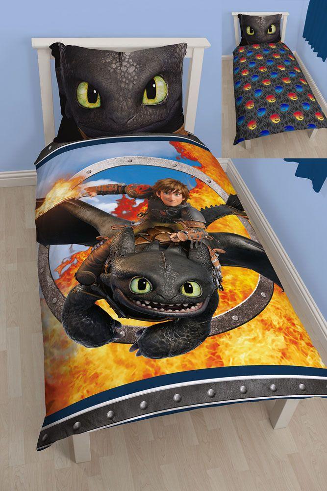 linge de lit dragon Dragons apprivoisés rendue facile Linge de lit Krokmou 135x200  linge de lit dragon