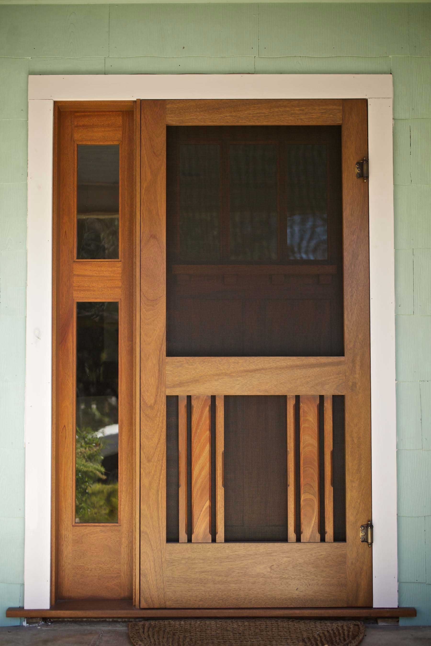 Craftsman front door with sidelights - Craftsman Era Screen Doors Google Search