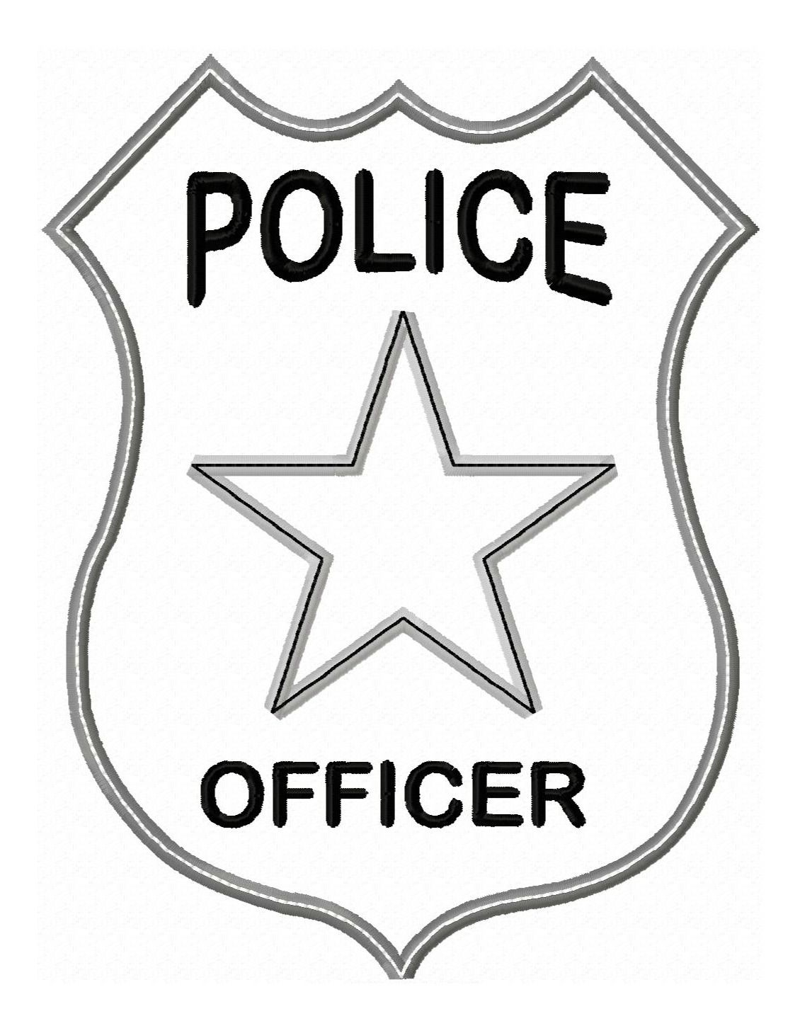 Police Badge Colouring Pages | Silhouette Vinyl Files SVG Clipart #2 ...