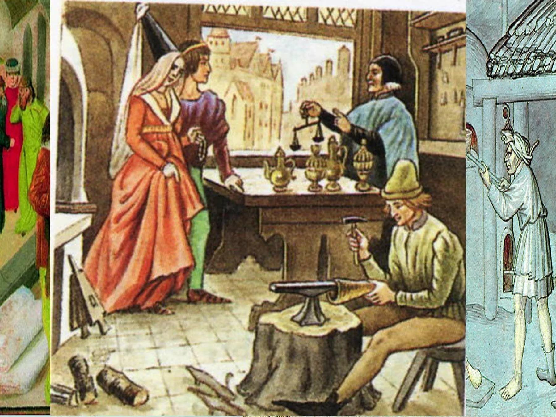 картинки средневековый город и его жители делают