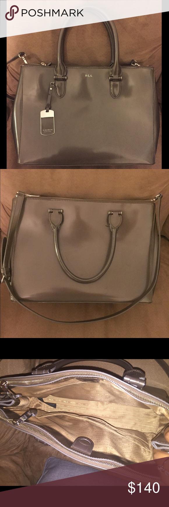 Selling this Women s Ralph Lauren Double Zip Satchel Tote bag on Poshmark!  My username is  h28fierce.  shopmycloset  poshmark  fashion  shopping   style ... 7cc64e12e3