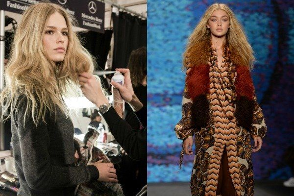 As seen at Fashion Week: unfussy texture. Click to find out how to get the look.