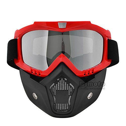 Ski Motorcycle Goggles Face Mask Grey Len Flexible Riding Protective Helmet Gear
