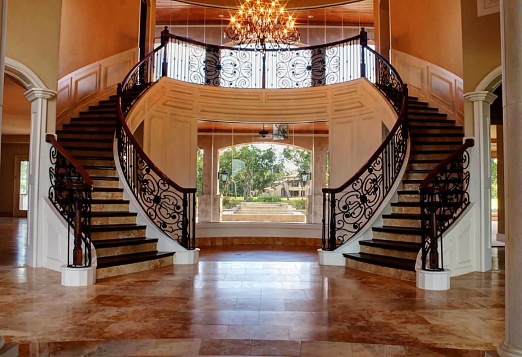 Best Stunning Double Staircase Stairs Pinterest 640 x 480