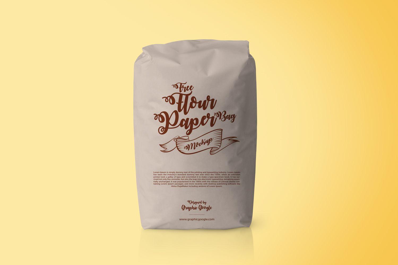 Download Free Flour Paper Bag Packaging Mockup Psd Packaging Mockup Bag Mockup Mockup