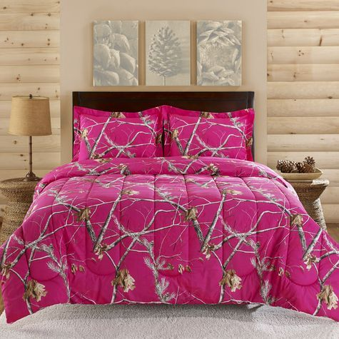Realtree Bright Pink Camo Comforter Set Ko
