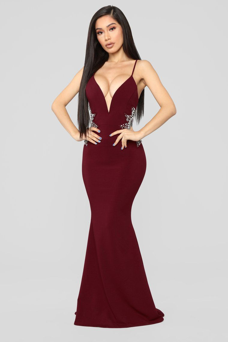 18ade175496 Star Status Maxi Gown - Burgundy in 2019