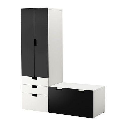stuva aufbewahrung mit bank ikea t ren mit integriertem stopper f r langsames ger uschloses. Black Bedroom Furniture Sets. Home Design Ideas