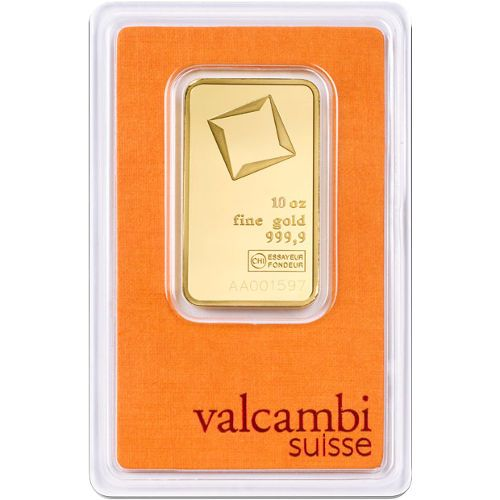 10 Oz Valcambi Gold Bar New W Assay Gold Bullion Bars Gold Bullion Gold Bar